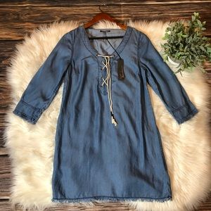 Anthropologie Michael Stars Chambray Lace Dress
